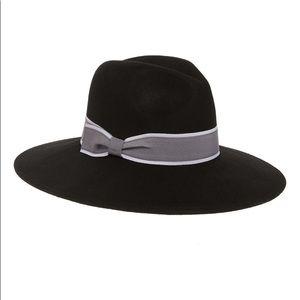 Halogen Wool Felt Panama Hat Black One Size
